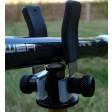 4 X  Super Lite Adjustable Black Alloy Butt Rests/Back Grips