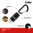 LUMO Omindirectional Clip On Light - Red Body / White Light